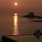 Sunset in Saint-Malo